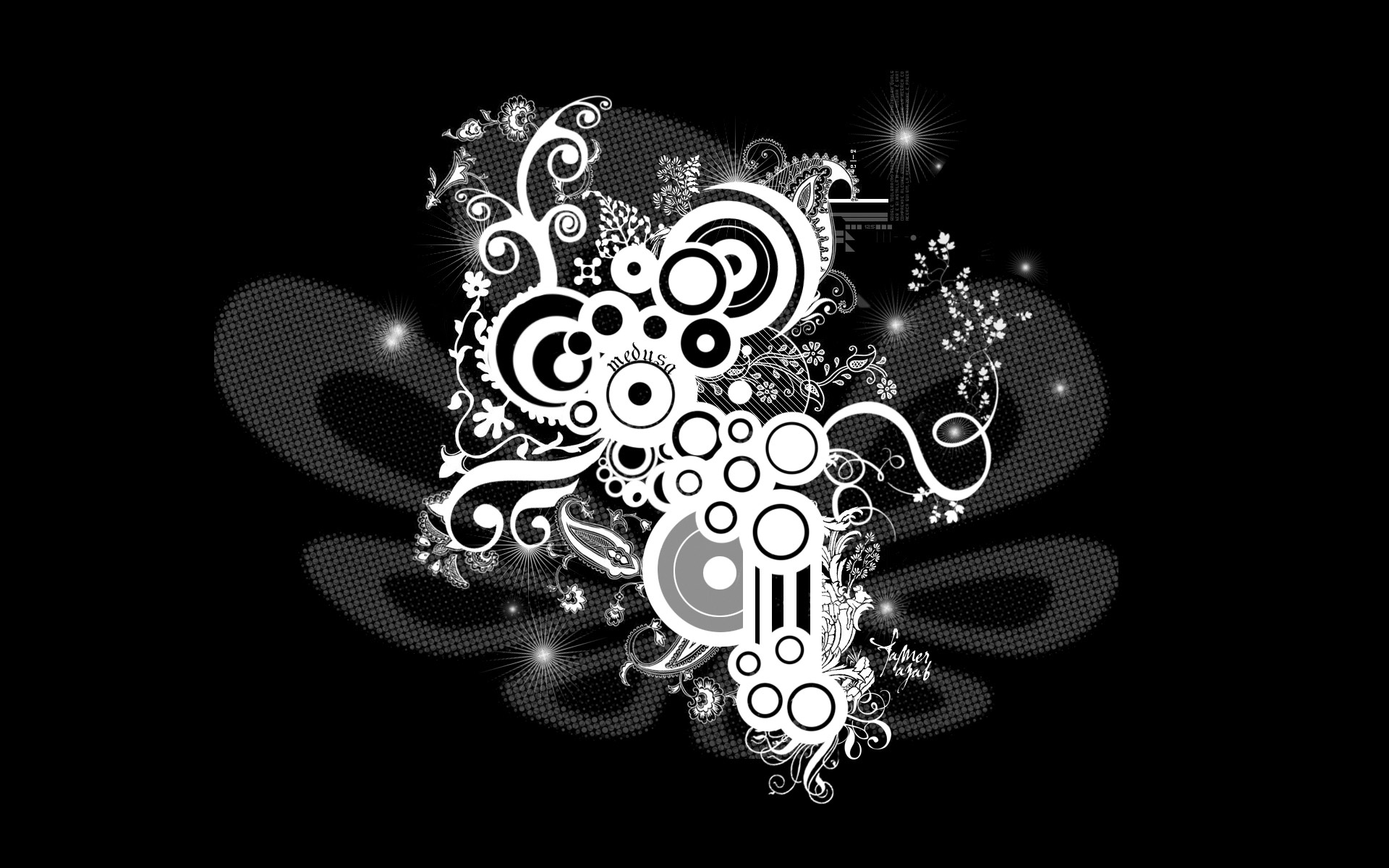 30 hd black wallpapers for Black and white wallpaper designs