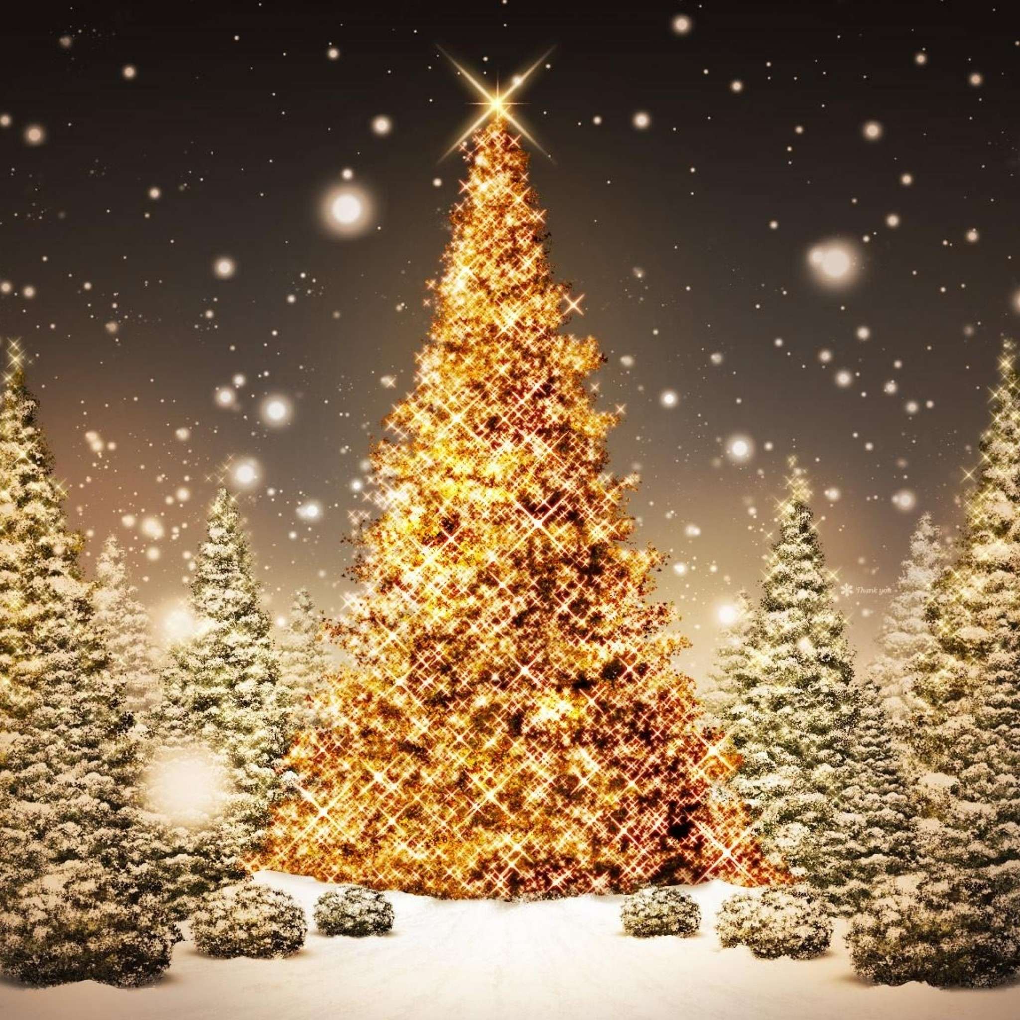 gold christmas tree wallpaper - photo #2