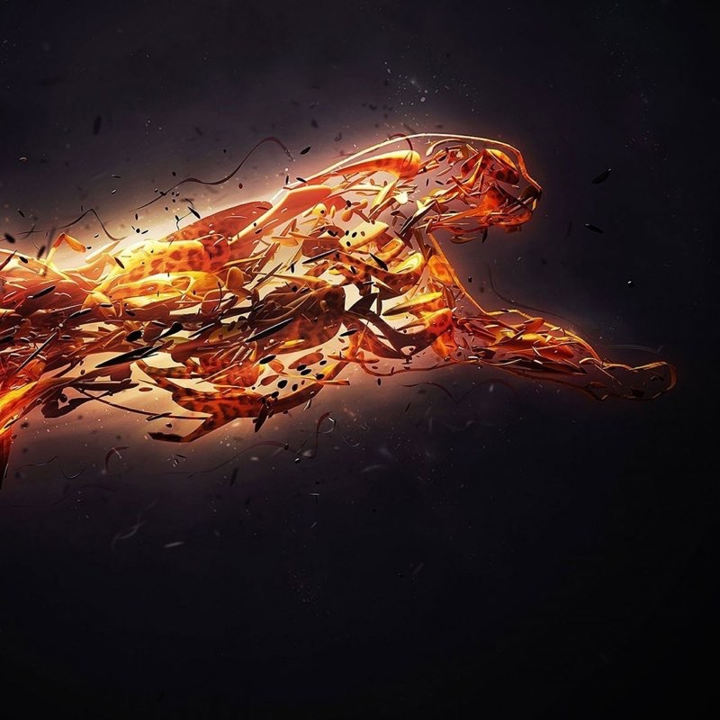Fire Art iPad Wallpaper 5
