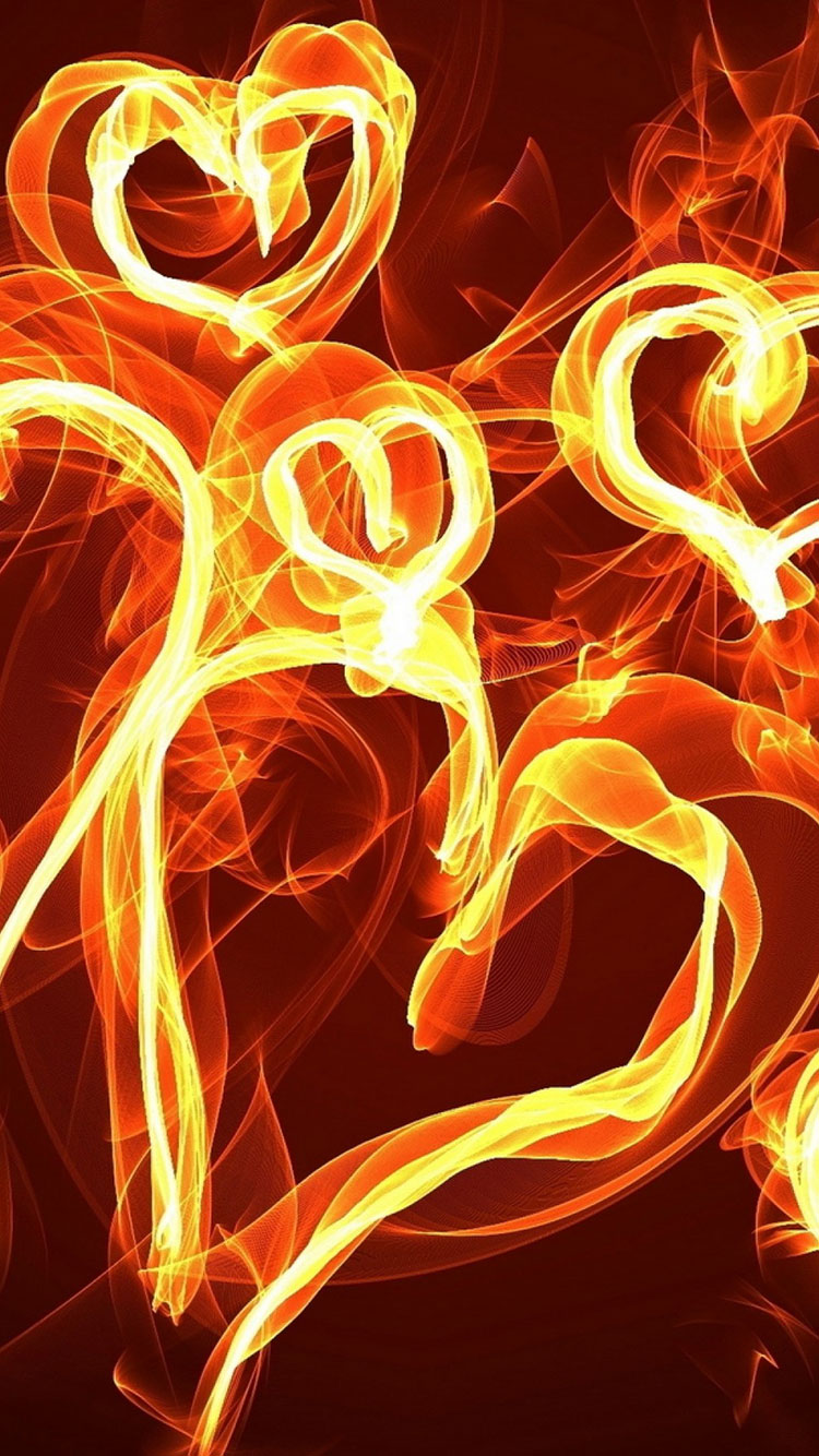 Fire Art iPhone Wallpaper 8