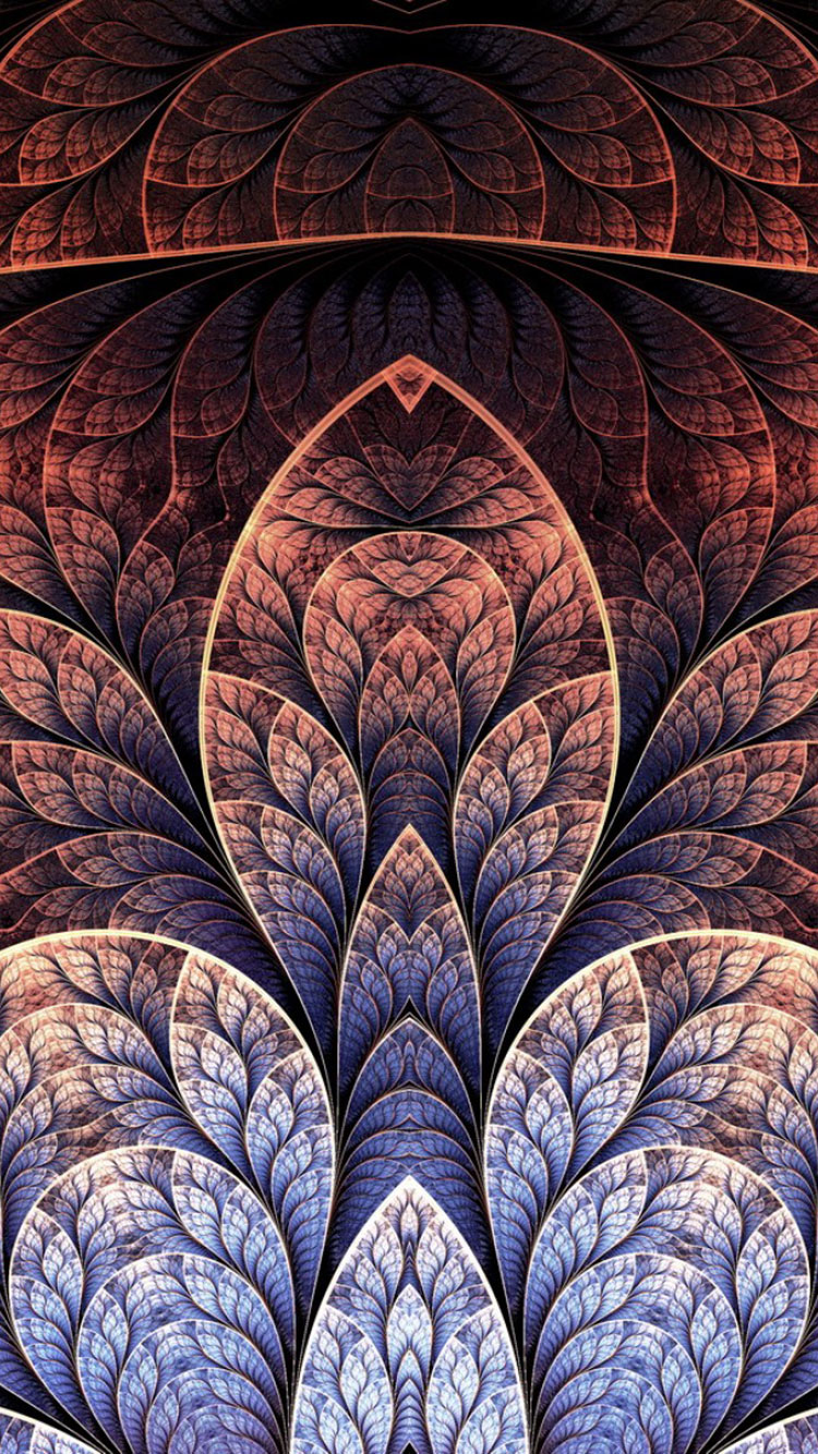 50 fractal art iphone wallpapers for 3d brown wallpaper