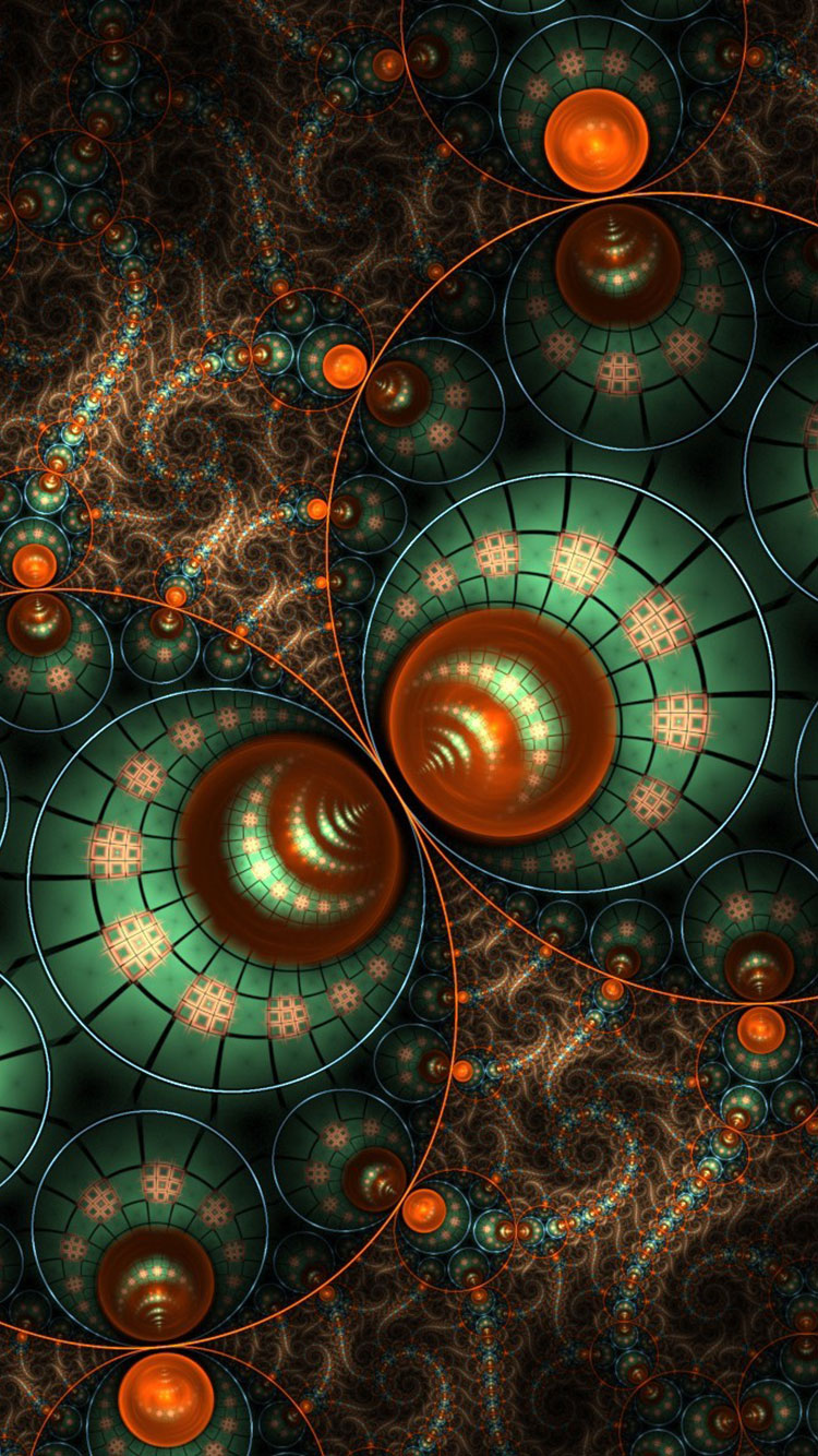 50 Fractal Art iPhone Wallpapers