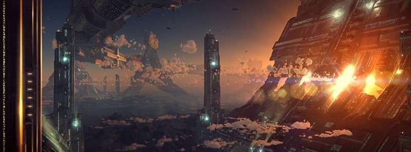 Futuristic City Facebook Cover 28