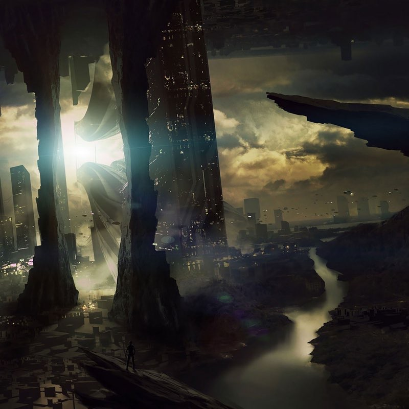 Futuristic City iPad Wallpaper 15