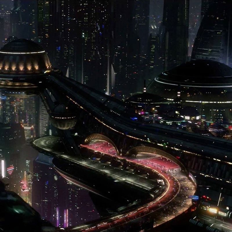 Futuristic City iPad Wallpaper 22