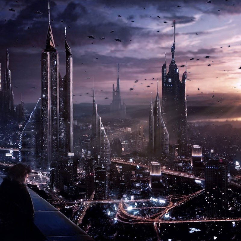 Futuristic City iPad Wallpaper 26