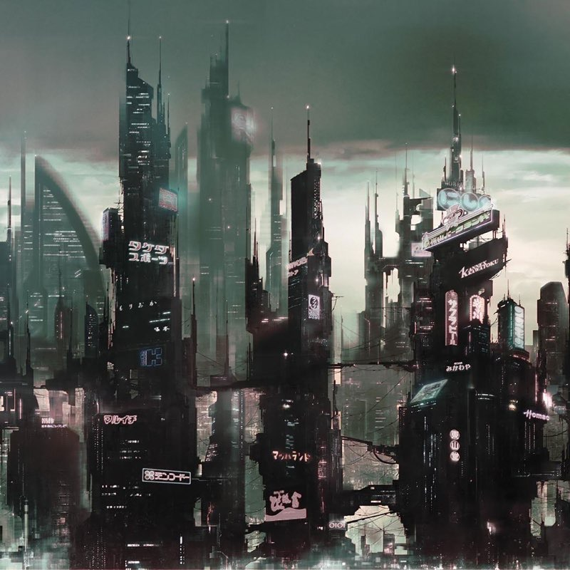 Futuristic City iPad Wallpaper 3