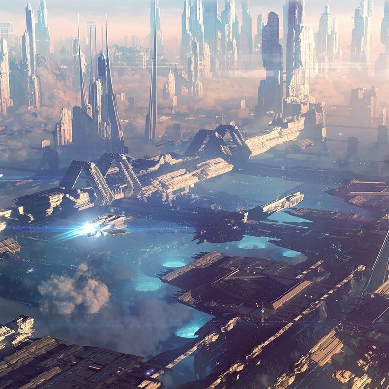 Futuristic City iPad Wallpaper 30