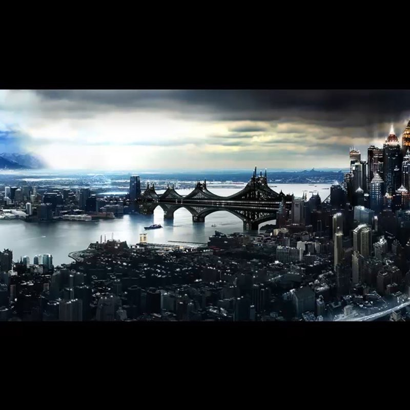 Futuristic City iPad Wallpaper 31