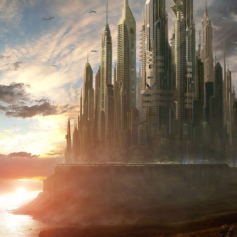Futuristic City iPad Wallpaper 37