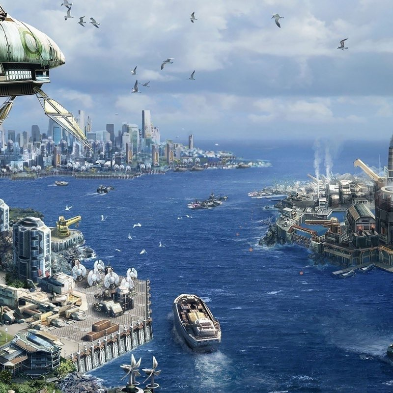 Futuristic City iPad Wallpaper 39