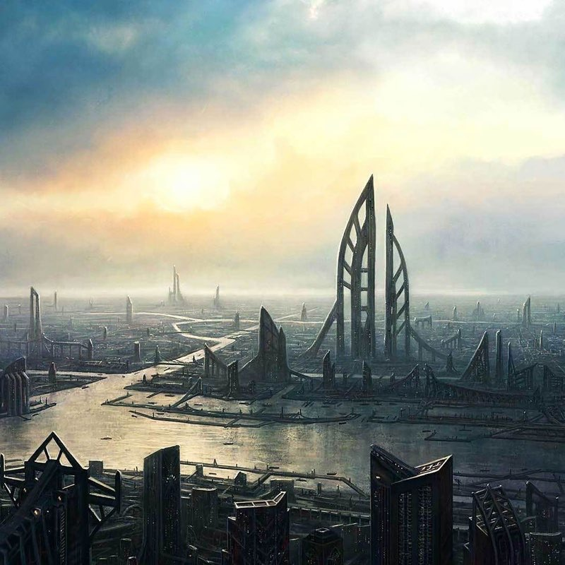 Futuristic City iPad Wallpaper 40