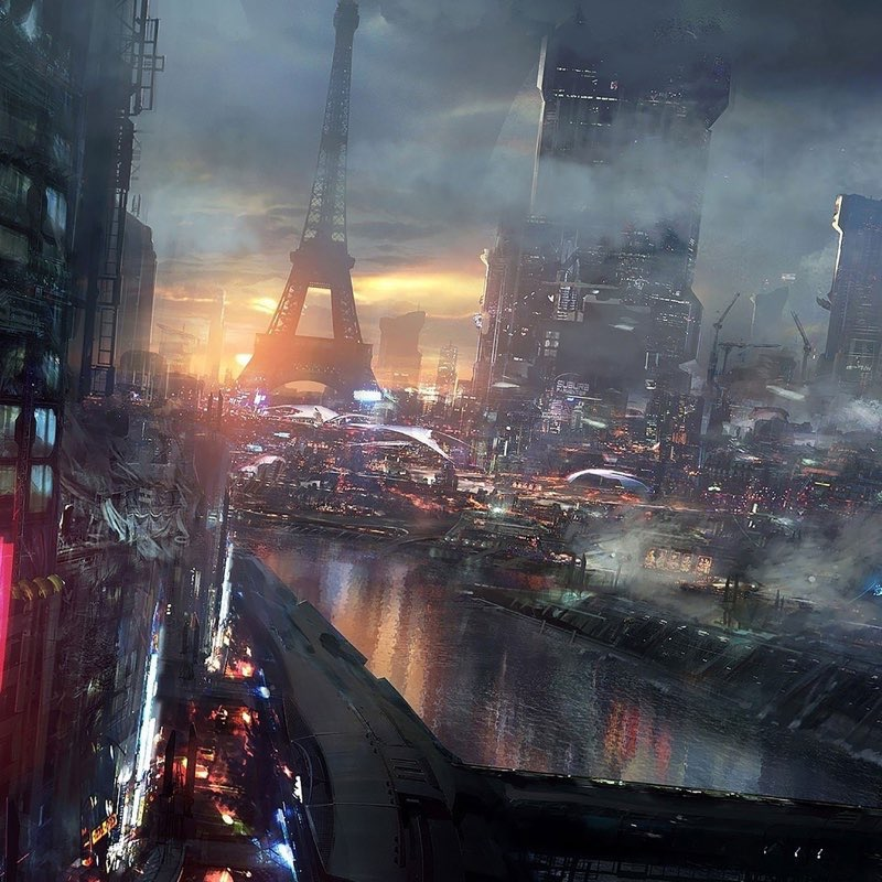 Futuristic City iPad Wallpaper 46