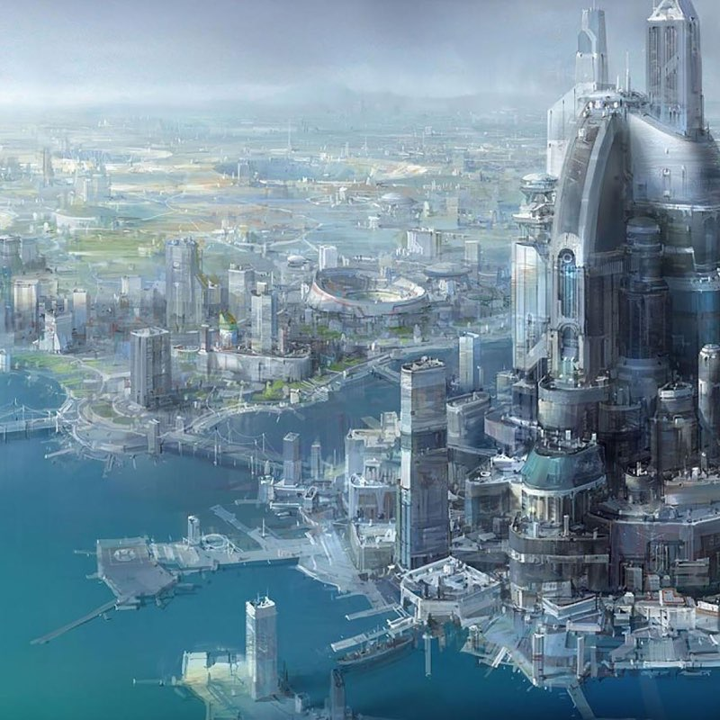 Futuristic City iPad Wallpaper 5