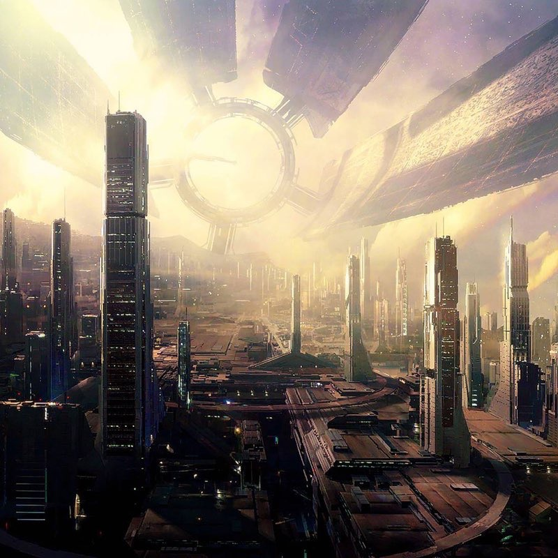 Futuristic City iPad Wallpaper 6