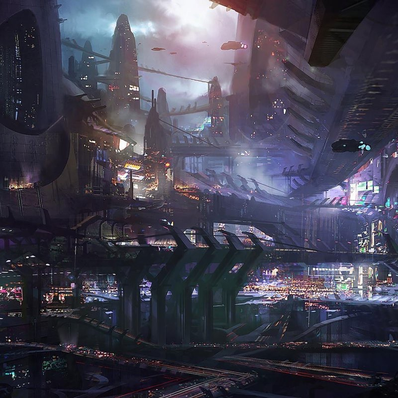 Futuristic City iPad Wallpaper 7