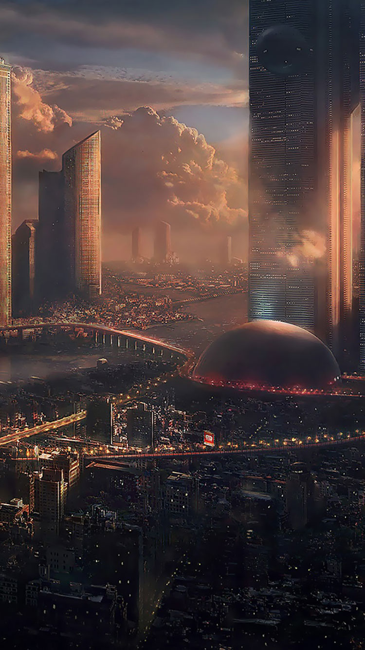 Futuristic City iPhone Wallpaper 20
