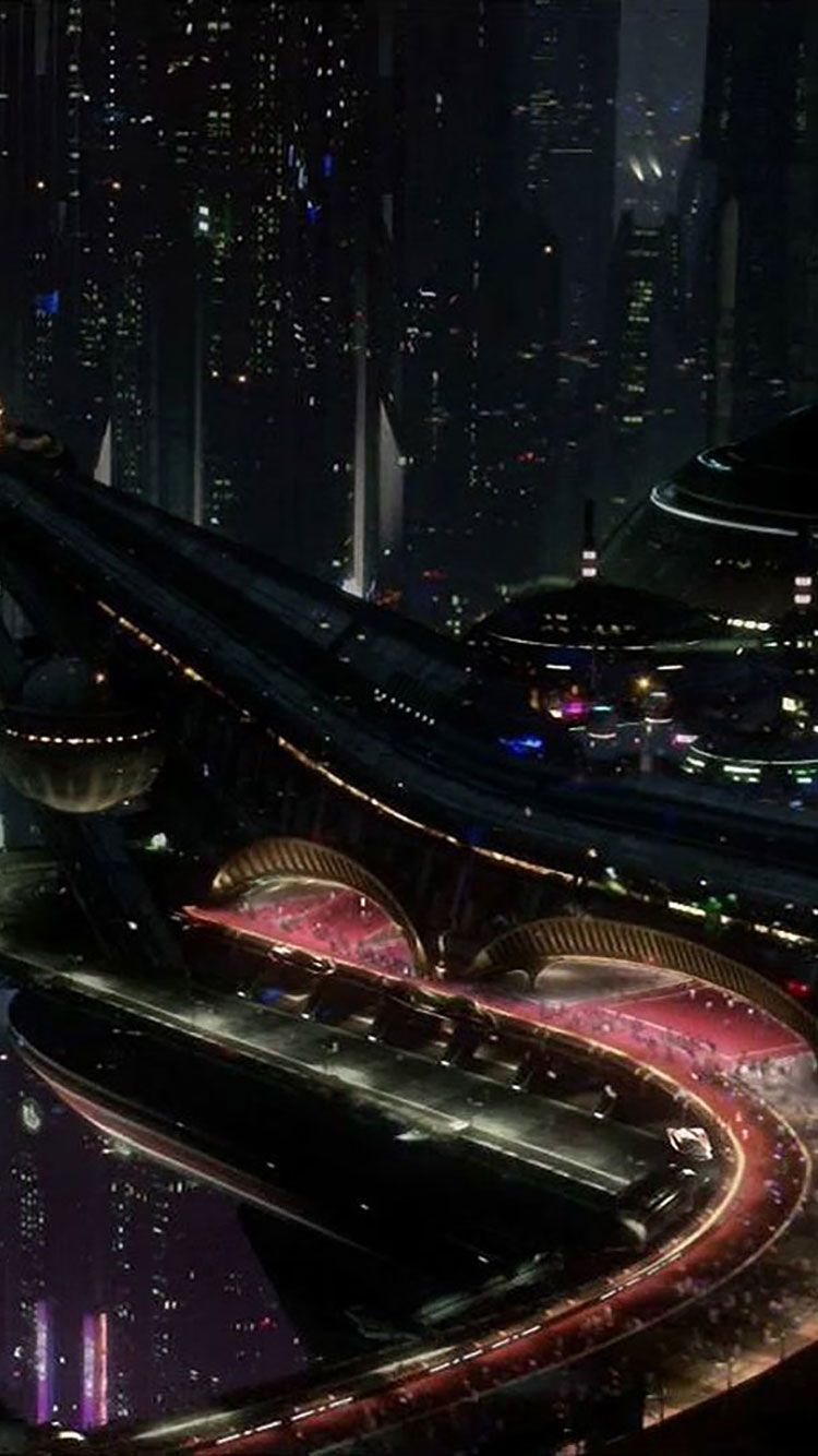 Futuristic City iPhone Wallpaper 22