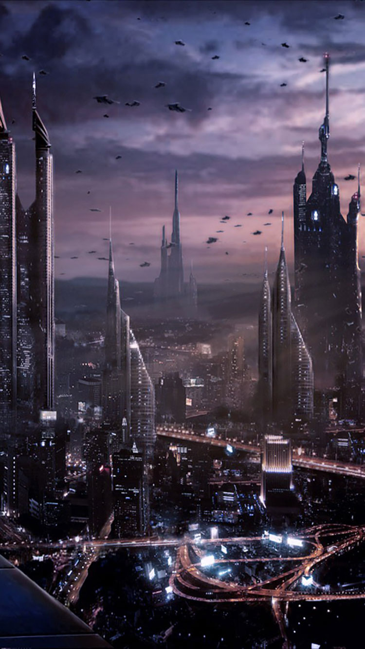 Futuristic City iPhone Wallpaper 26
