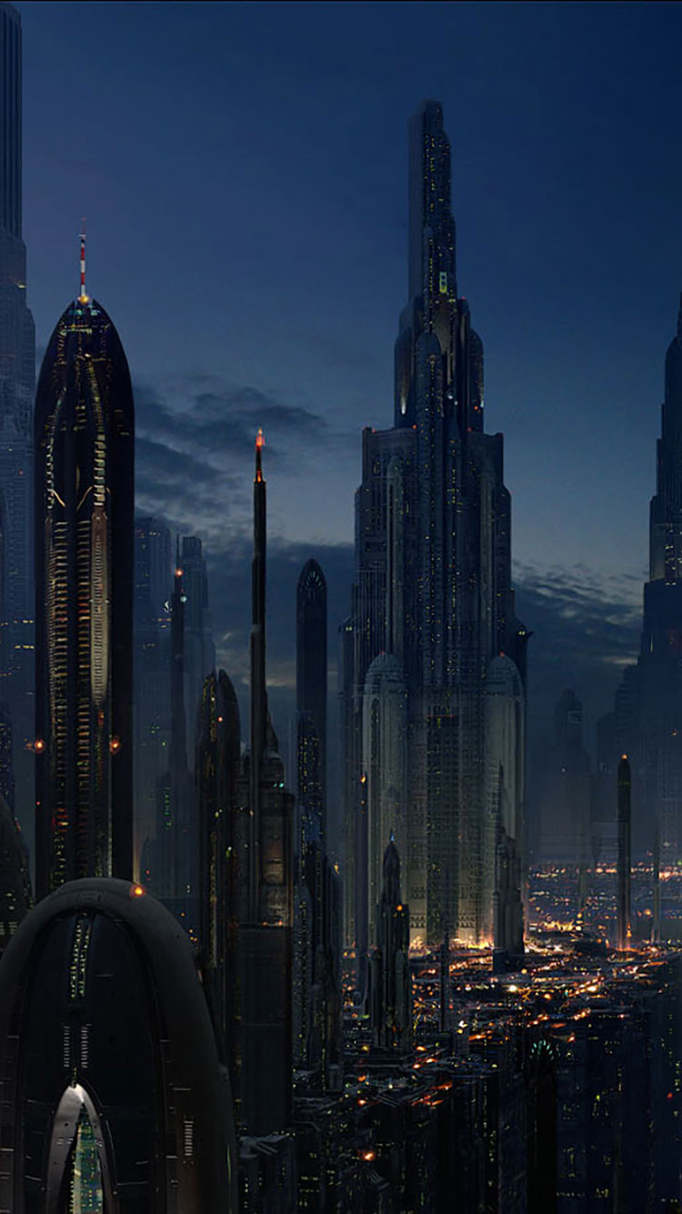 Futuristic City iPhone Wallpaper 29