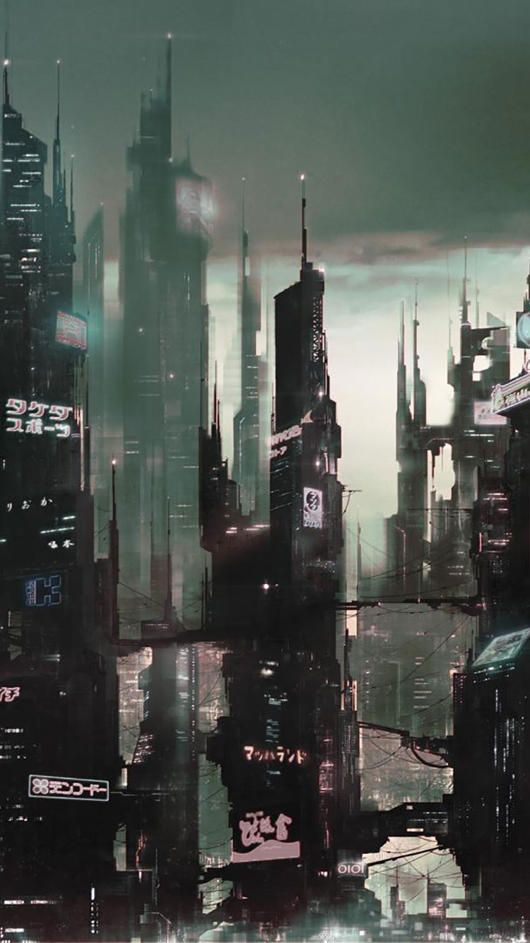 Futuristic City iPhone Wallpaper 3