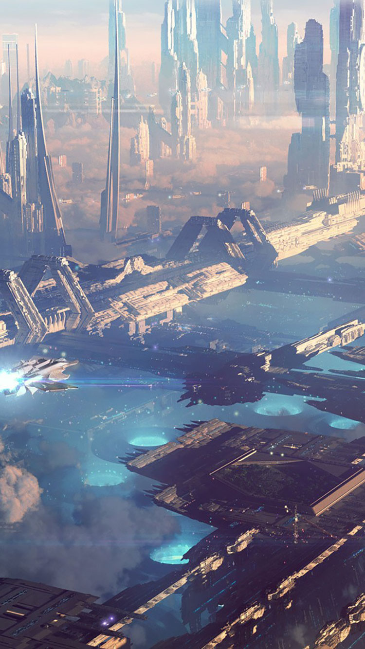 Futuristic City iPhone Wallpaper 30