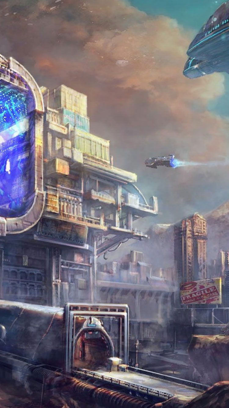 Futuristic City iPhone Wallpaper 34