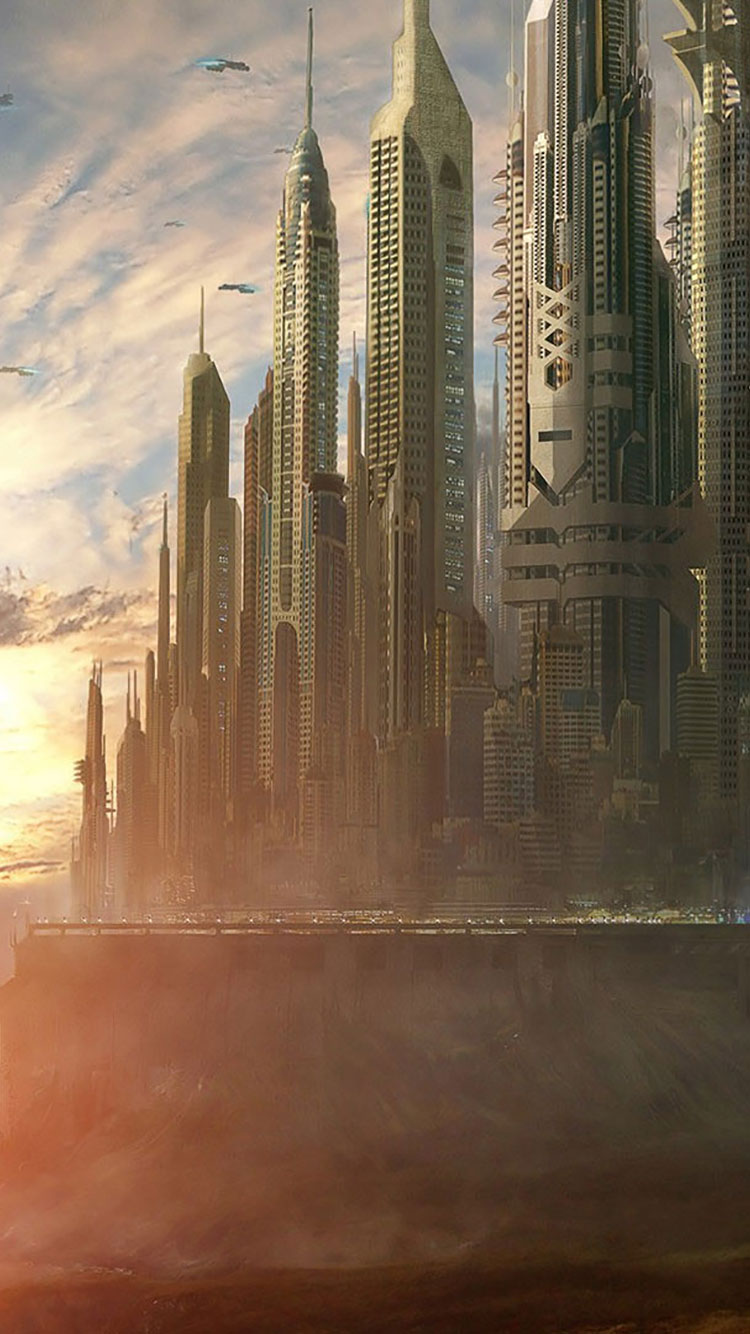 Futuristic City iPhone Wallpaper 37