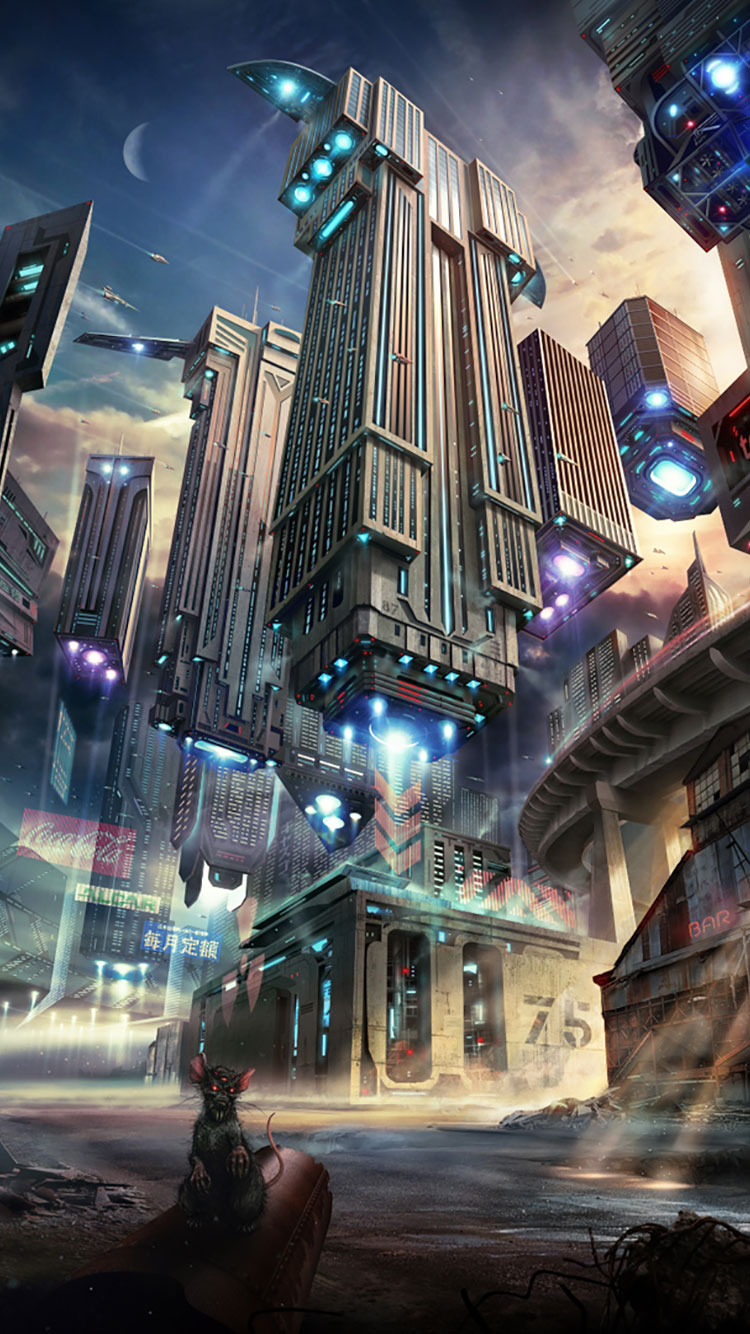 Futuristic City iPhone Wallpaper 38