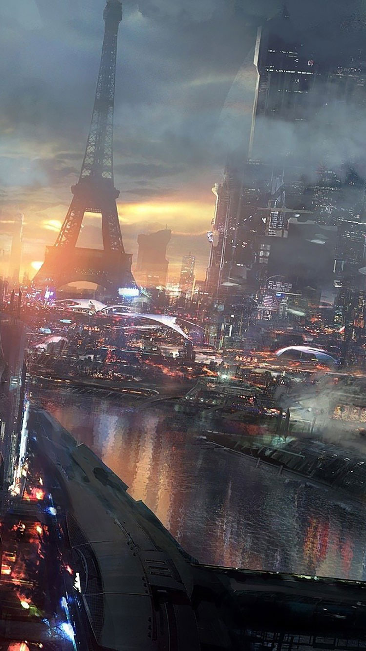 Futuristic City iPhone Wallpaper 46