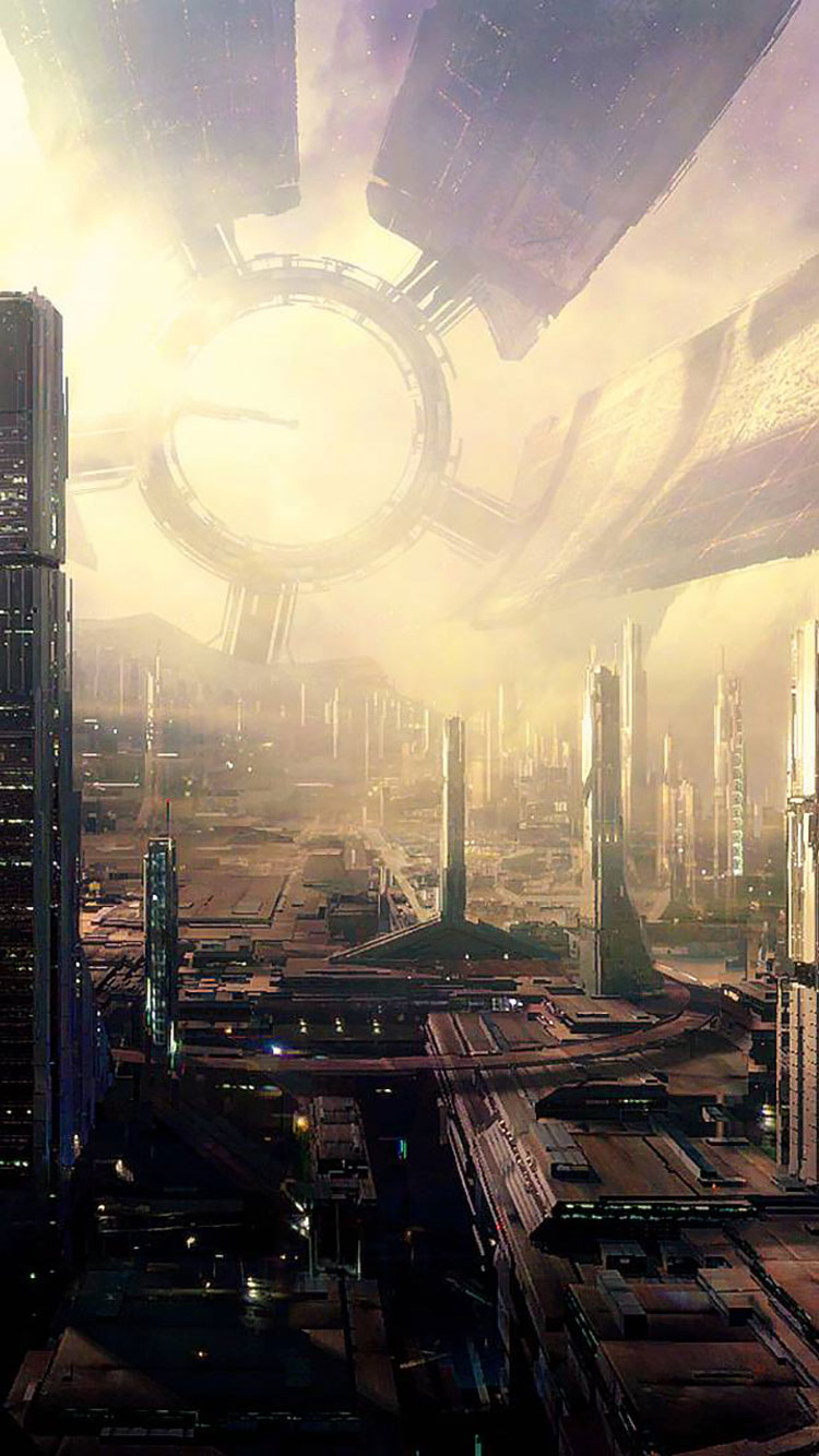 Futuristic City iPhone Wallpaper 6