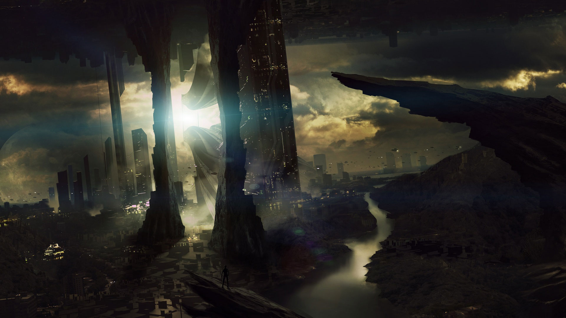 50 futuristic city wallpapers for Sci fi background