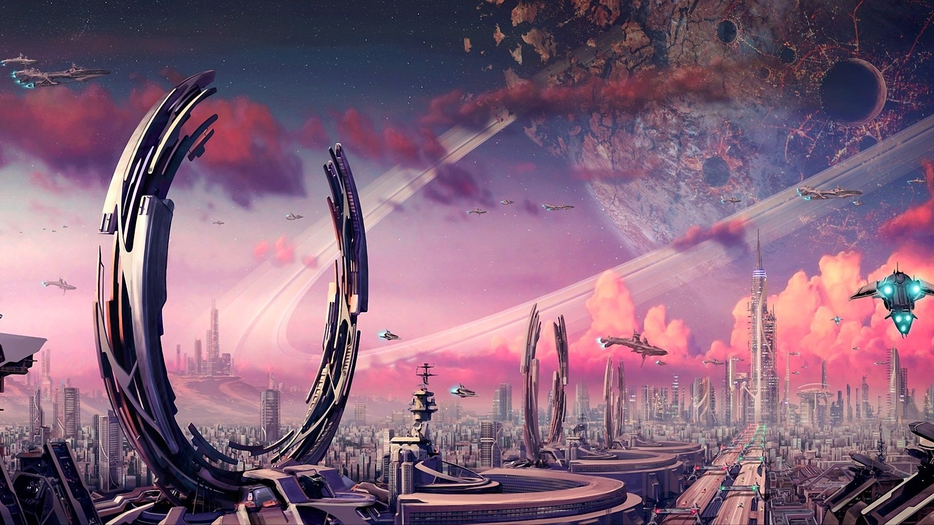 sci fi cities on other planets - photo #7