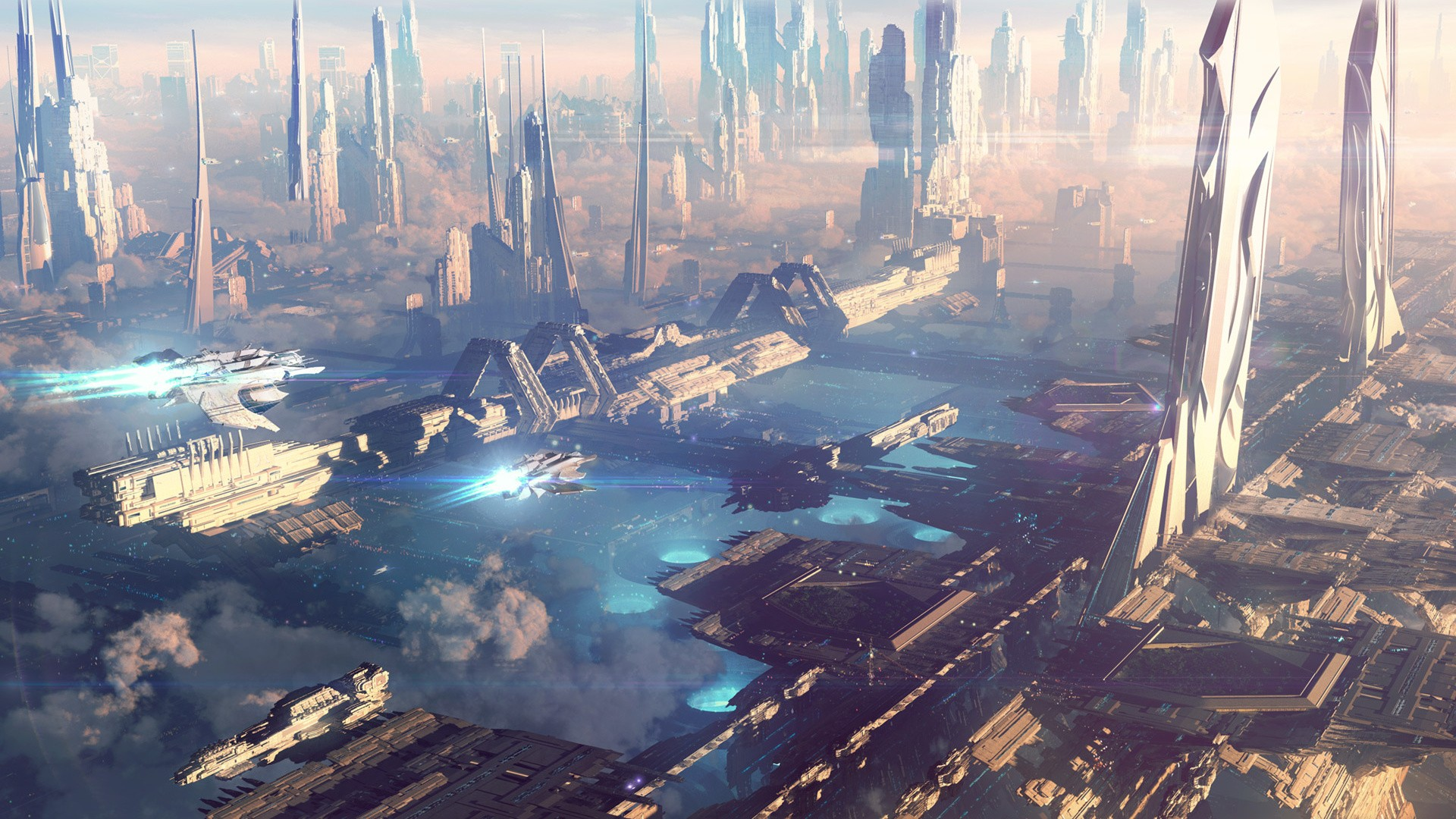 Futuristic City Wallpaper 30