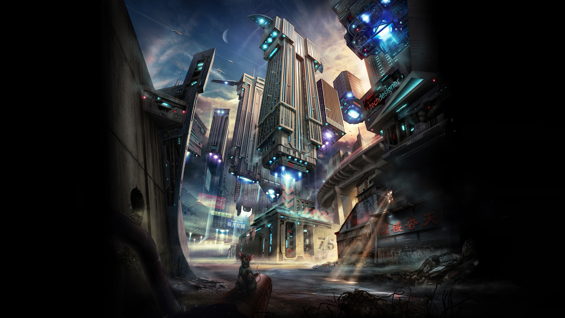 Futuristic City Wallpaper 38