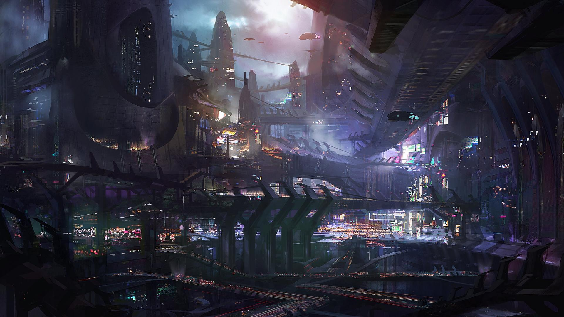 Futuristic City Wallpaper 7