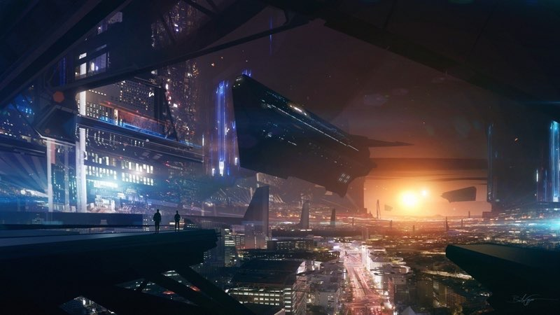 Futuristic City Wallpaper 17