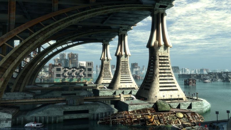 Futuristic City Wallpaper 19