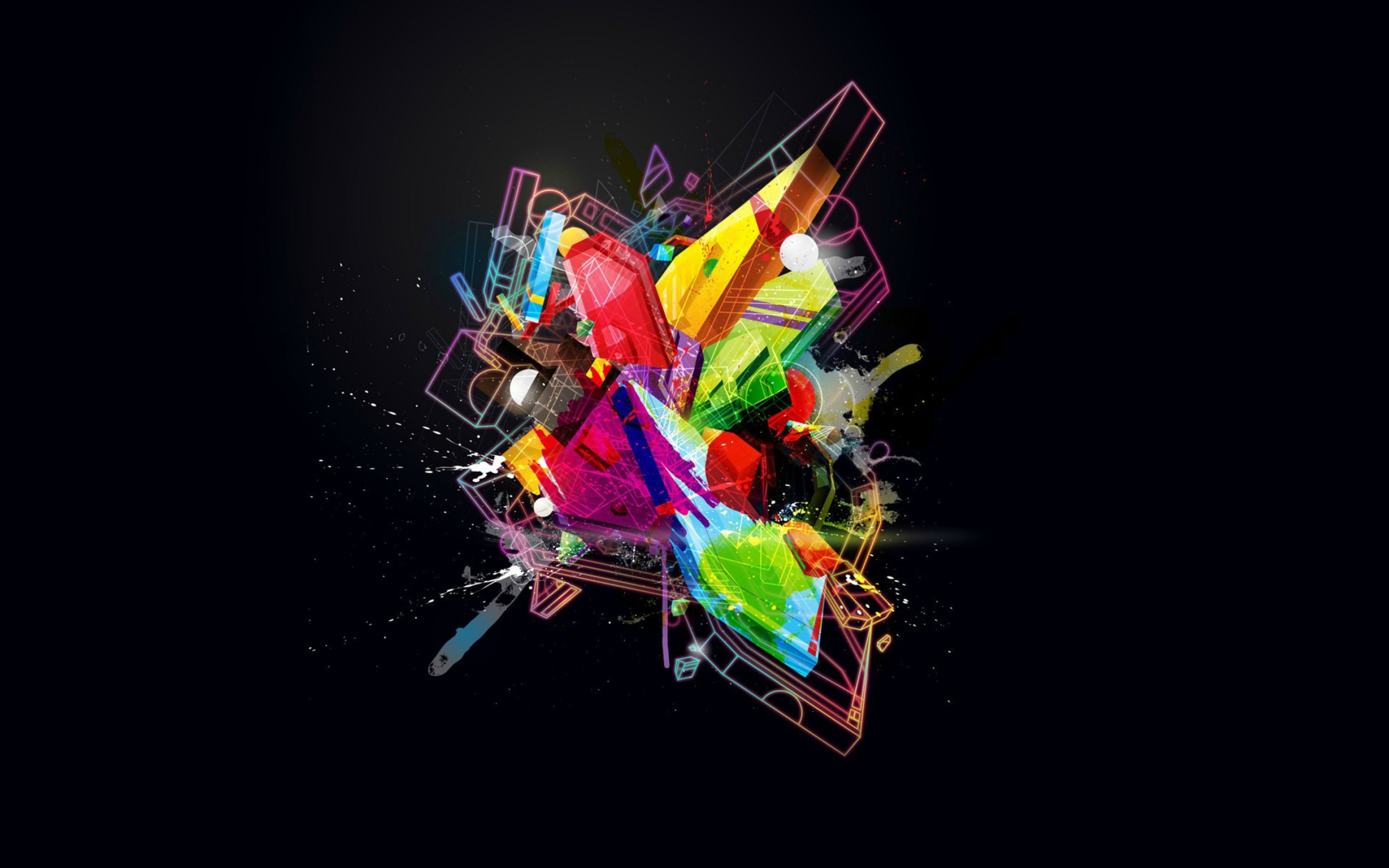 20 hd geometric wallpapers 3d design