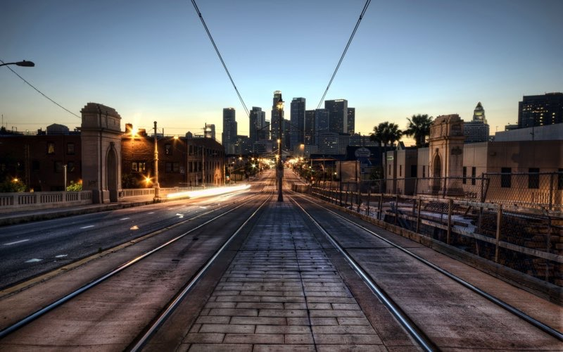 Los Angeles Train Tracks