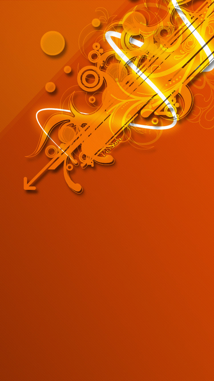 Orange iPhone Wallpaper 15