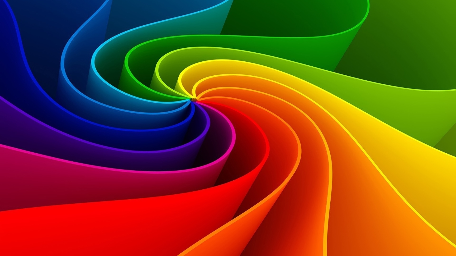 rainbow illustration wallpaper 1920x1080 - photo #35