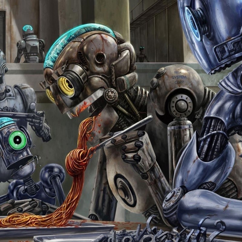 Robot iPad Wallpaper 7