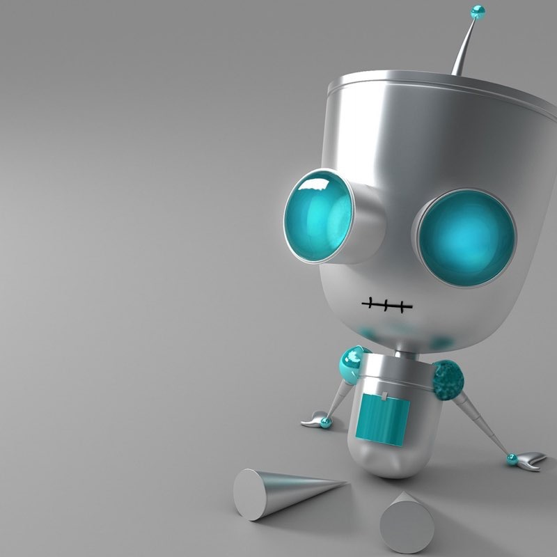 Robot iPad Wallpaper 8