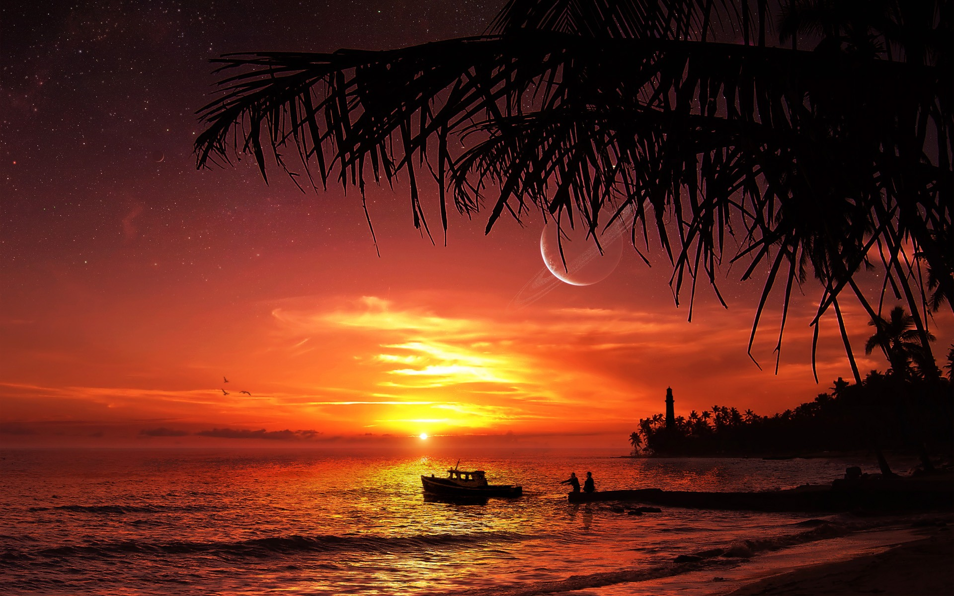 30 hd tropical beach backgrounds for Beautiful beaches in la