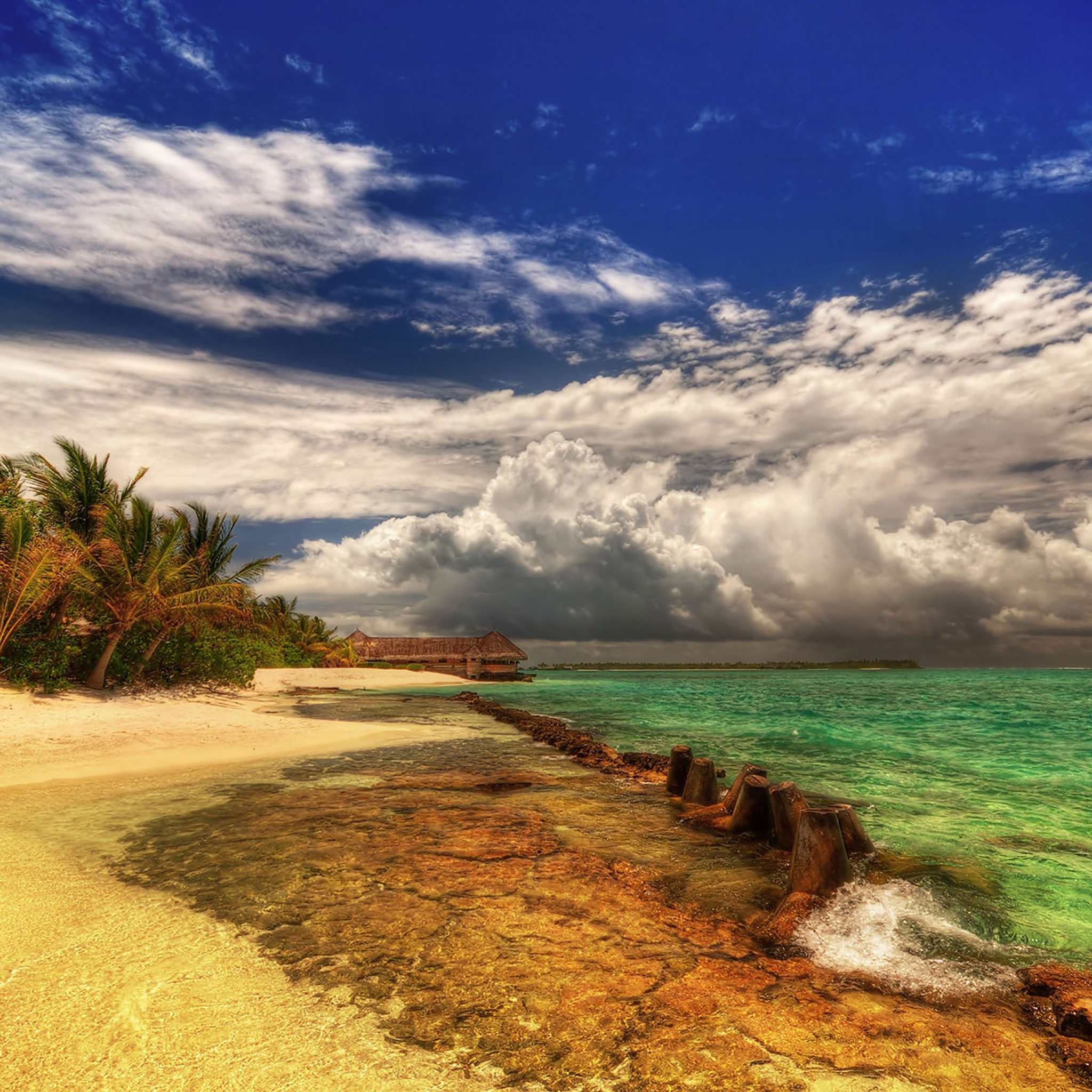 hd landscape wallpapers ipad: 30 HD Tropical Beach IPad Backgrounds